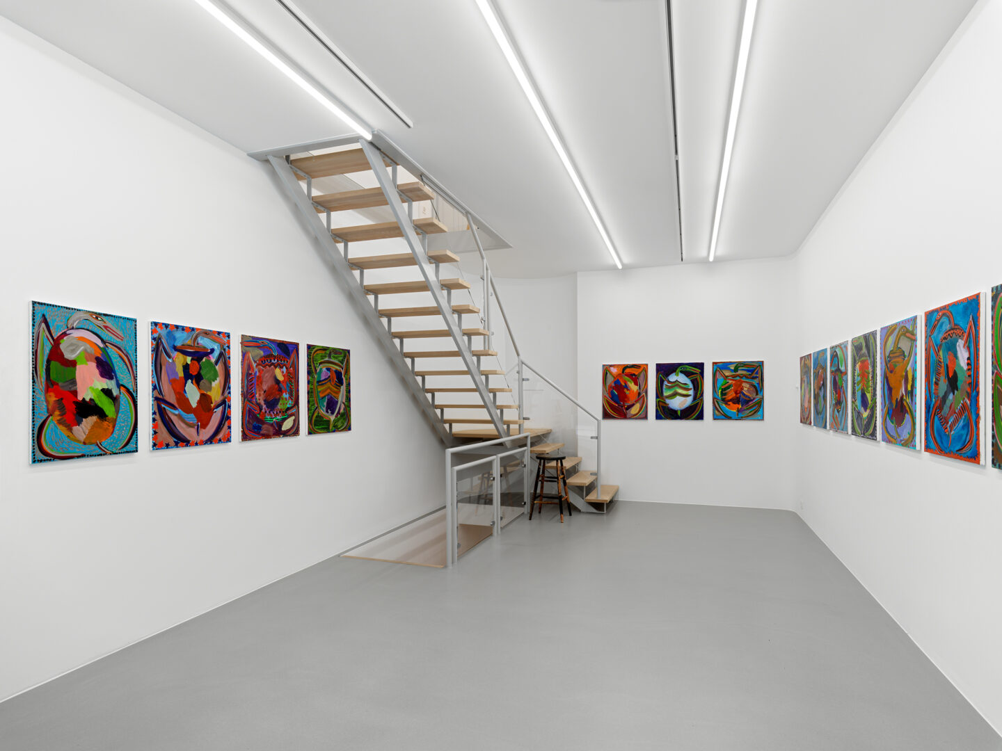 Exhibition View Josh Smith Soloshow «Life» at Galerie Eva Presenhuber, Rämistrasse, Zurich, 2020 / © Josh Smith / Photo: Stefan Altenburger / Courtesy: the artist and Galerie Eva Presenhuber, Zurich / New York