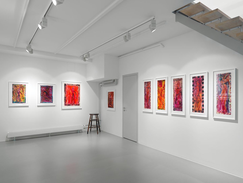Exhibition View Josh Smith Soloshow «Life» at Galerie Eva Presenhuber, Rämistrasse, Zurich, 2020 / © Josh Smith / Photo: Stefan Altenburger / Courtesy: the artist and Galerie Eva Presenhuber, Zurich / New York