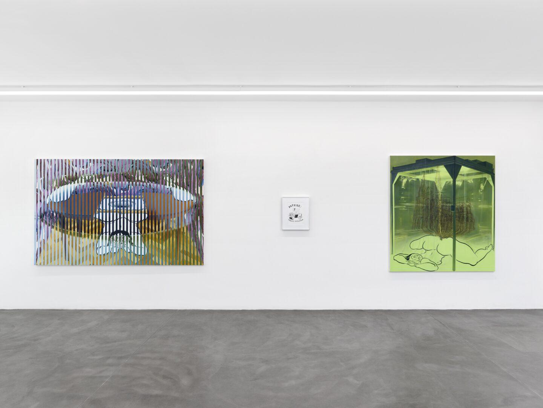 Exhibition View Ebecho Muslimova Soloshow «Fatebe» at Galerie Maria Bernheim, Zurich, 2020 / Photo: Annik Wetter / Courtesy: the artist and Galerie Maria Bernheim