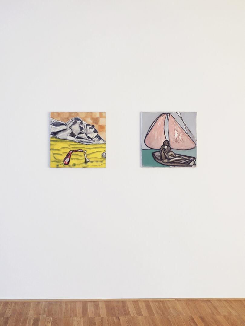 Exhibition View Sara Anstis and Neal Tait Groupshow «Comings and Goings» at Fabian Lang Gallery, Zurich, 2020 / © Fabian Lang Gallery / Courtesy: the artists and Fabian Lang Gallery