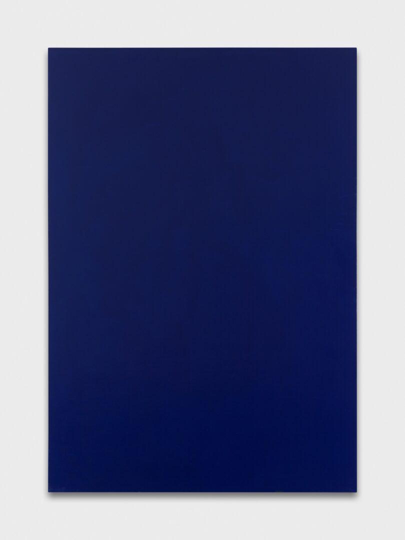 Exhibition View Emil Michael Klein Soloshow «Mono Cross; view on Monochrome, Phthalo Blue, 2019» at Galerie Francesca Pia, Zurich, 2020 / Photo: Annik Wetter / Courtesy: the artist and Galerie Francesca Pia