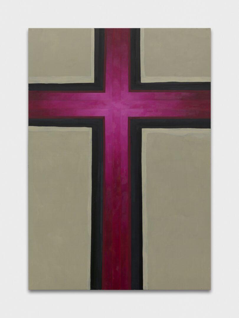 Exhibition View Emil Michael Klein Soloshow «Mono Cross; view on Cross, 2020» at Galerie Francesca Pia, Zurich, 2020 / Photo: Annik Wetter / Courtesy: the artist and Galerie Francesca Pia