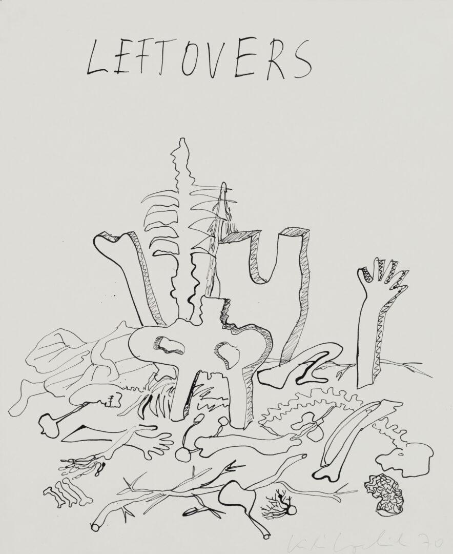 Exhibition View Kiki Kogelnik «Les cyborgs ne sont pas respectueuses; view on Leftovers, 1970» at Musée des beaux-arts de La Chaux-de-Fonds, La Chaux-de-Fonds, 2020 / © Kiki Kogelnik Foundation. All rights reserved