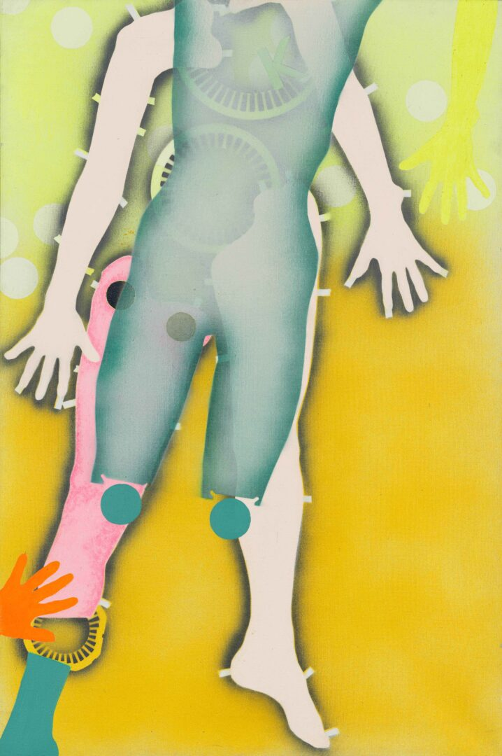 Exhibition View Kiki Kogelnik «Les cyborgs ne sont pas respectueuses; view on Liquid Injection Thrust, c. 1965» at Musée des beaux-arts de La Chaux-de-Fonds, La Chaux-de-Fonds, 2020 / © Kiki Kogelnik Foundation. All rights reserved