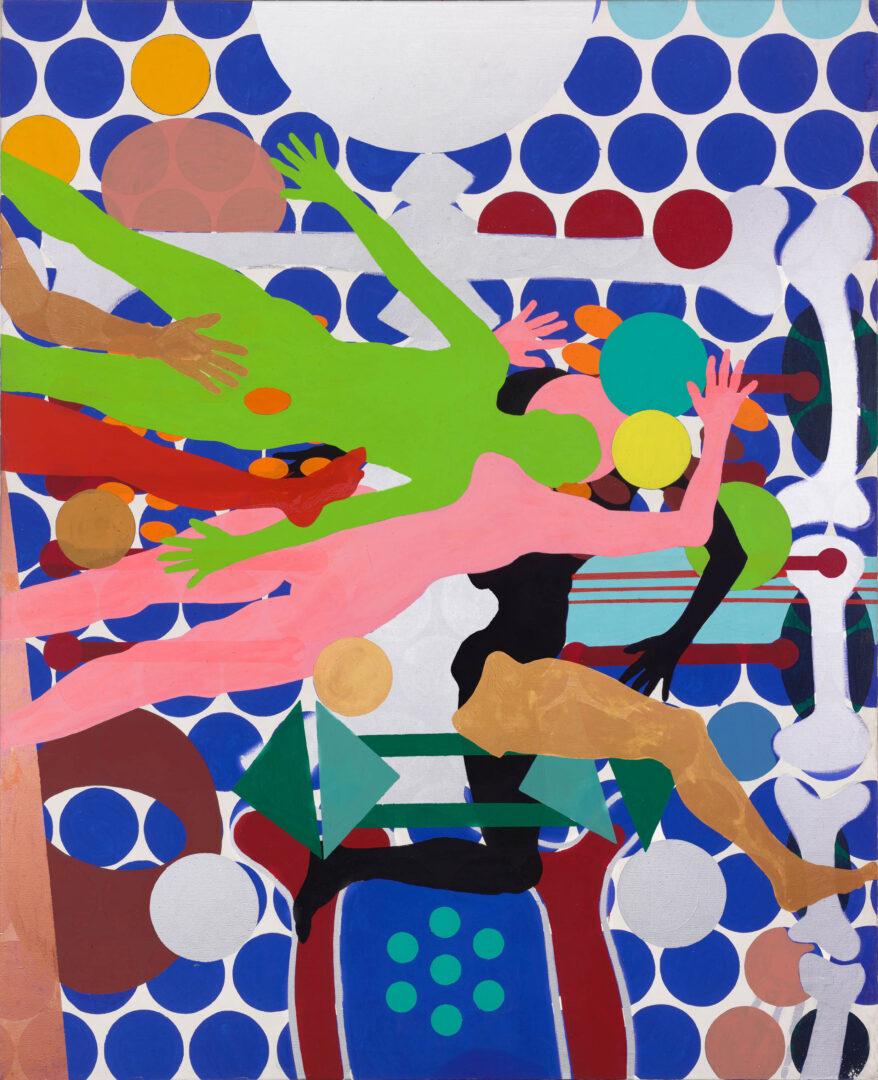 Exhibition View Kiki Kogelnik «Les cyborgs ne sont pas respectueuses; view on Portrait of an Attractive Man, 1964» at Musée des beaux-arts de La Chaux-de-Fonds, La Chaux-de-Fonds, 2020 / © Kiki Kogelnik Foundation. All rights reserved