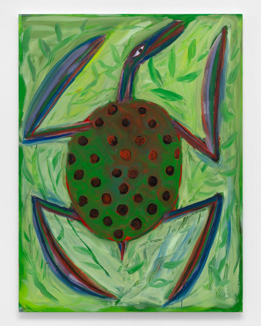 Exhibition View Josh Smith Soloshow «Life; view on Untitled, 2019, (Oil on canvas)» at Galerie Eva Presenhuber, Rämistrasse, Zurich, 2020 / © Josh Smith / Photo: Dan Bradica / Courtesy: the artist, David Zwirner, and Galerie Eva Presenhuber, Zurich / New York