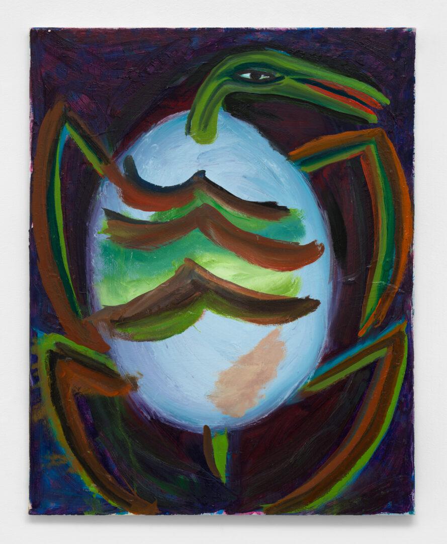 Exhibition View Josh Smith Soloshow «Life; view on Untitled, 2020, (Oil on canvas)» at Galerie Eva Presenhuber, Rämistrasse, Zurich, 2020 / © Josh Smith / Photo: Dan Bradica / Courtesy: the artist, David Zwirner, and Galerie Eva Presenhuber, Zurich / New York
