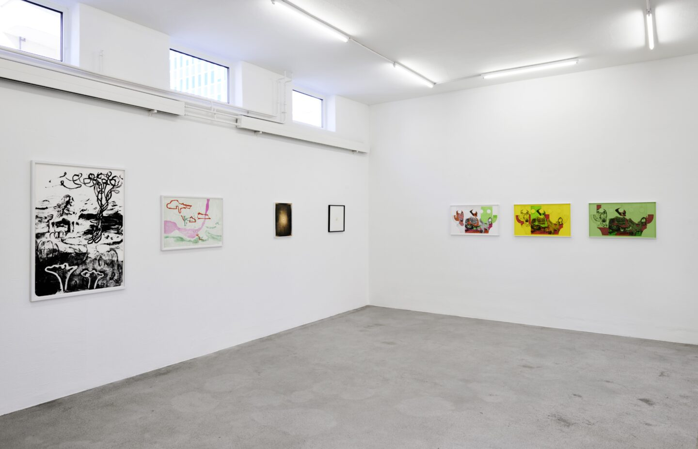 Exhibition View Groupshow «Intaglio and Lithography: Works on Paper» at Edition VFO, Zurch, 2020 / Photo: Sabina Bosch / Courtesy: the artists and Edition VFO