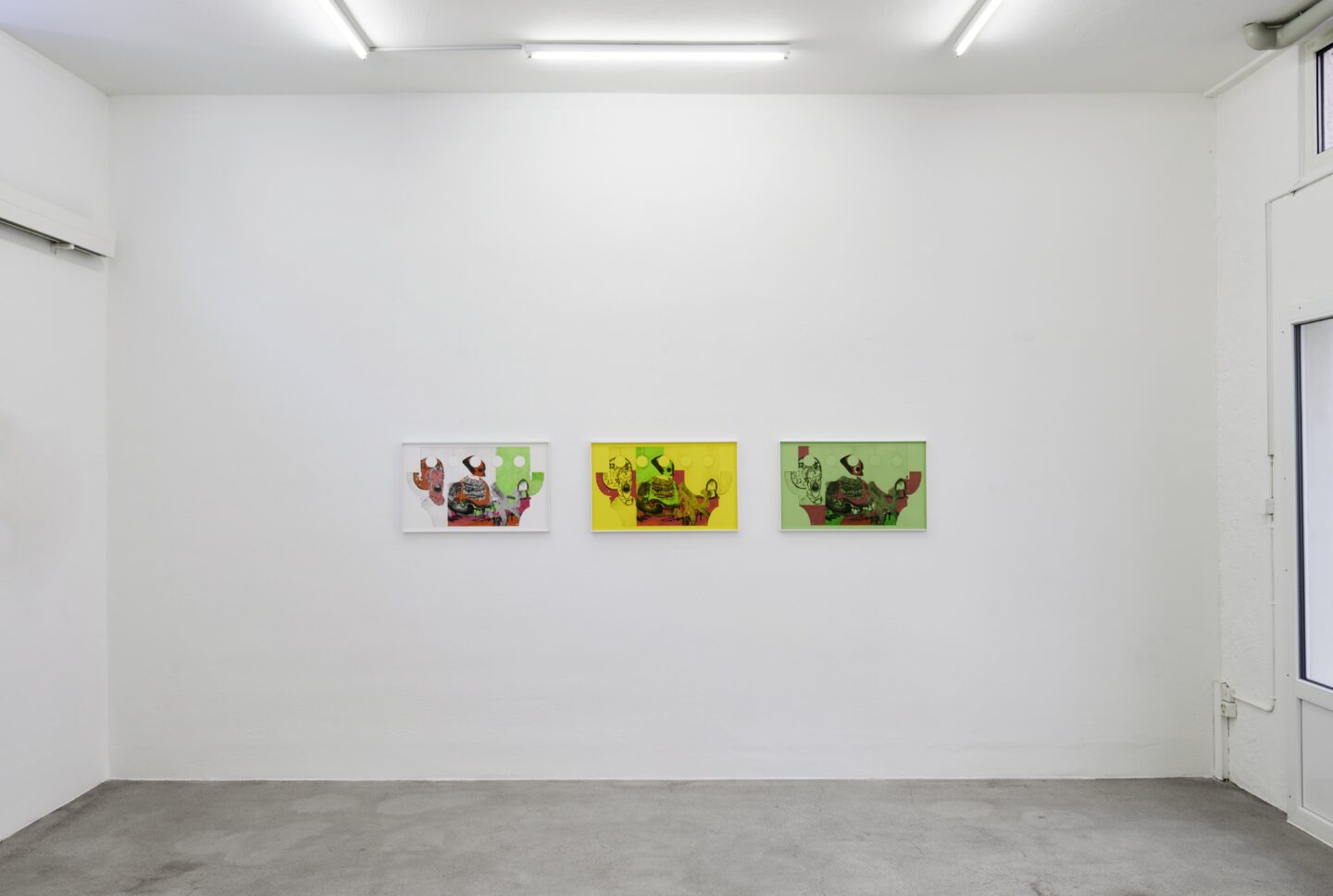Exhibition View Groupshow «Intaglio and Lithography: Works on Paper; view on Cédric Eisenring, Casanova, 2020» at Edition VFO, Zurch, 2020 / Photo: Sabina Bosch / Courtesy: the artists and Edition VFO
