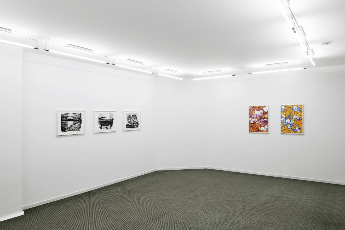 Exhibition View Groupshow «Intaglio and Lithography: Works on Paper; view on Marc Bauer and Vera Rothamel» at Edition VFO, Zurch, 2020 / Photo: Sabina Bosch / Courtesy: the artists and Edition VFO