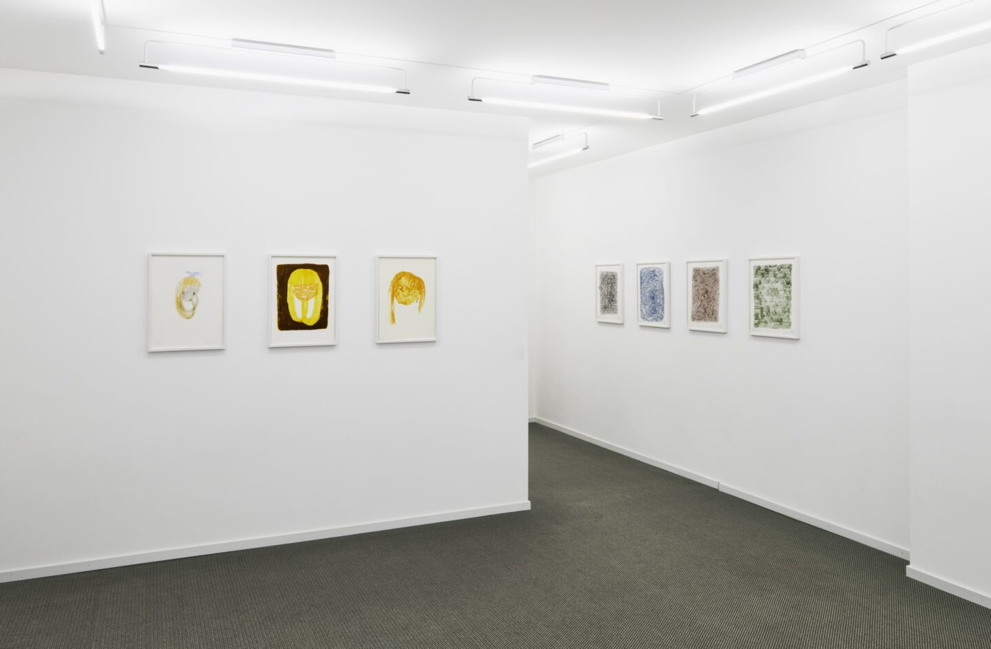 Exhibition View Groupshow «Intaglio and Lithography: Works on Paper; view on Leiko Ikemura and Richard Deacon» at Edition VFO, Zurch, 2020 / Photo: Sabina Bosch / Courtesy: the artists and Edition VFO
