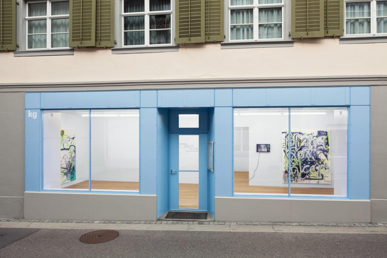 Exhibition View Linda Semadeni Soloshow «Scripts» at Kirchgasse, Steckborn, 2020 / Photo: Björn Allemann / Courtesy: Linda Semadeni and Kirchgasse