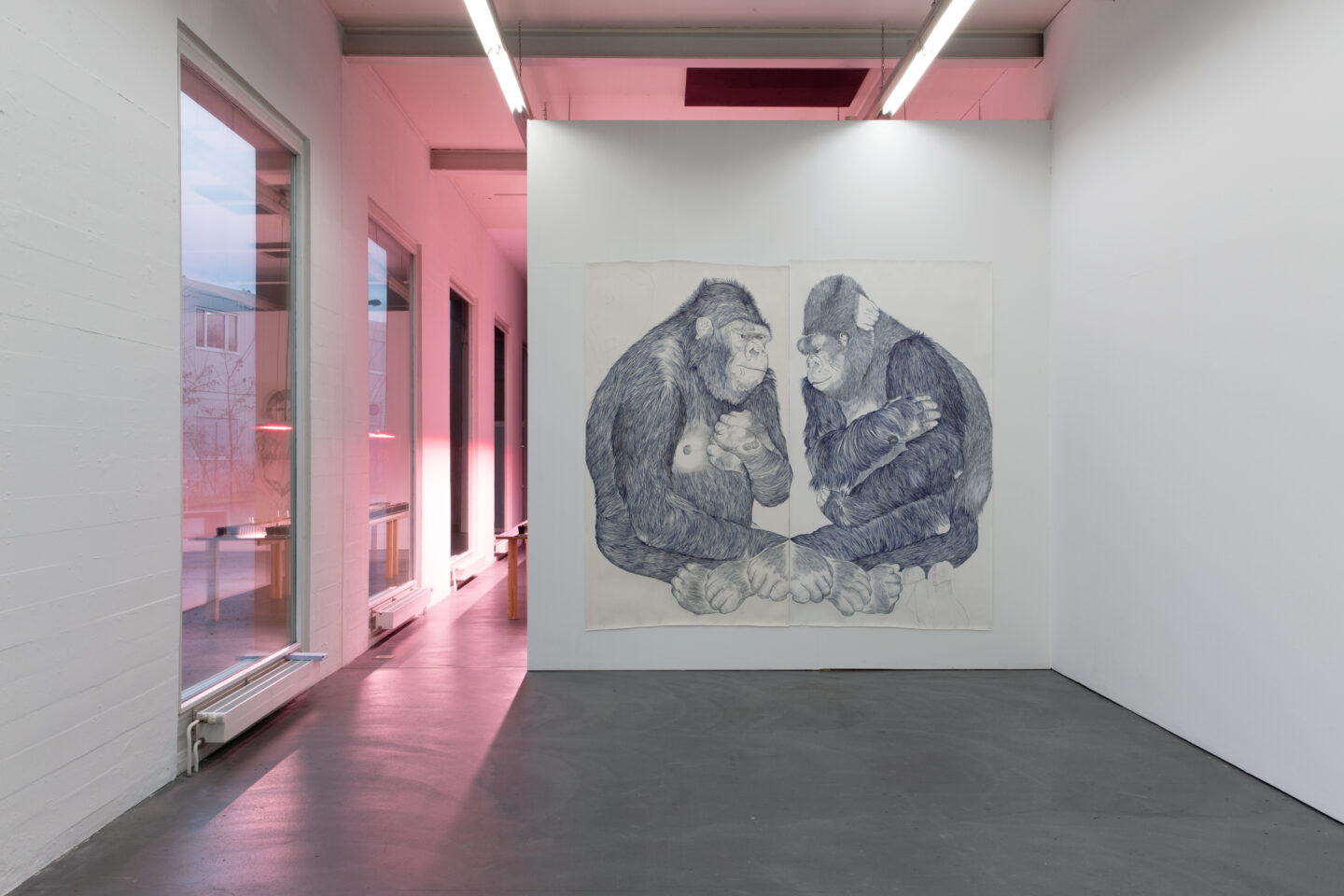 Exhibition View Marlene McCarty Soloshow «Into the Weeds; view on GROUP 10.3 (Sorry.Baby.), 2008» at Kunsthaus Baselland, Muttenz, 2020 / Photo: Gina Folly / Courtesy: the artist