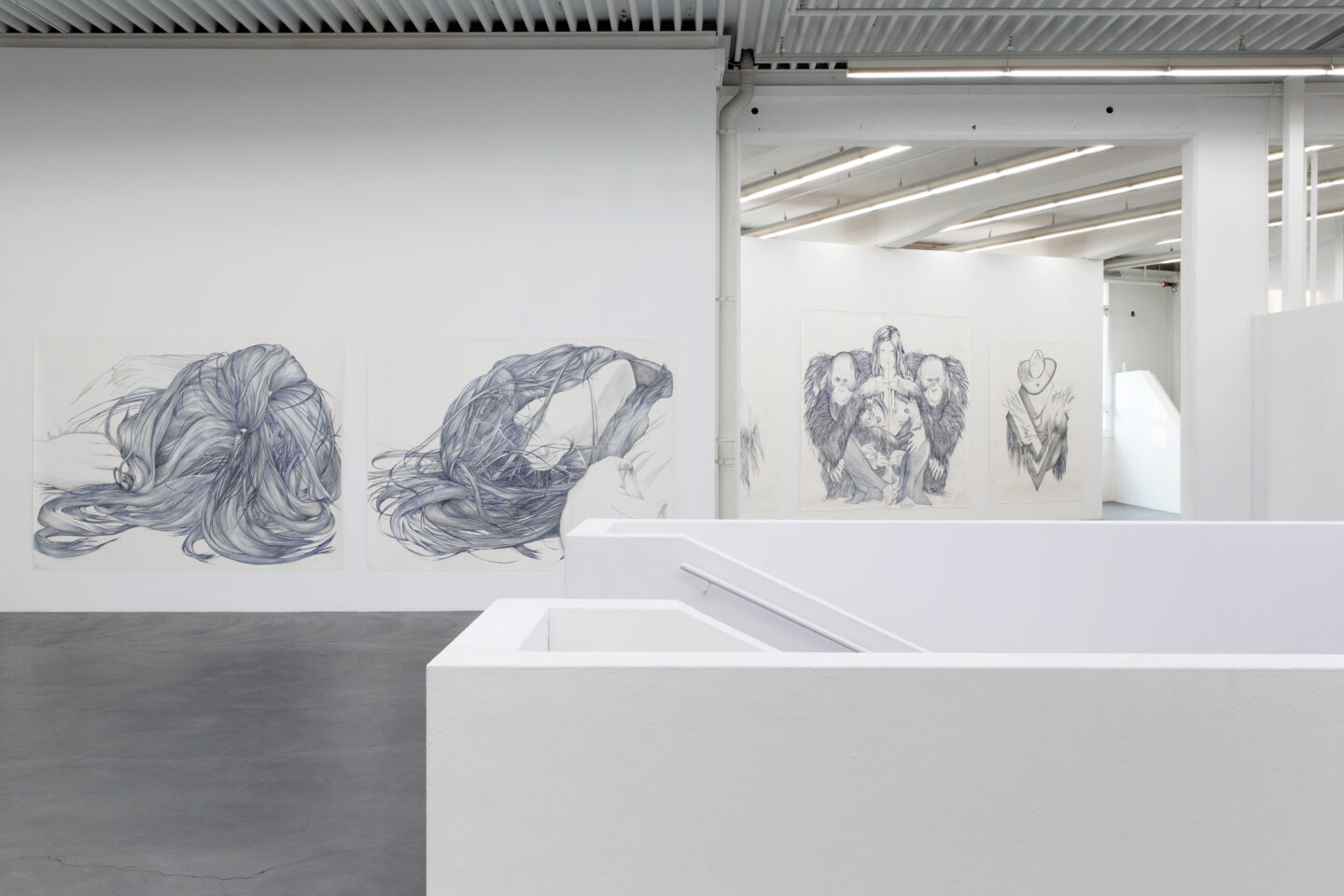 "Exhibition View Marlene McCarty Soloshow «Into the Weeds; view on ""14""(2) / ""14""(4), 2014» at Kunsthaus Baselland, Muttenz, 2020 / Photo: Gina Folly / Courtesy: the artist and Sikkema Jenkins & Co. Gallery"