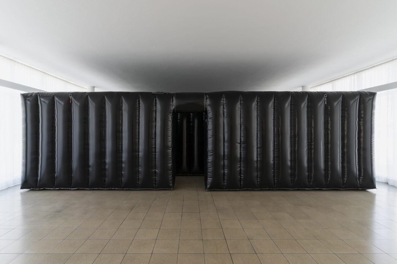 Exhibition View Jan Vorisek Soloshow «Collapse Poem; view on Devotion Strategy, 2020» at Kunsthaus Glarus, Glarus, 2020 / Photo: Gunnar Meier / Courtesy: the artist and Galerie Bernhard, Zurich