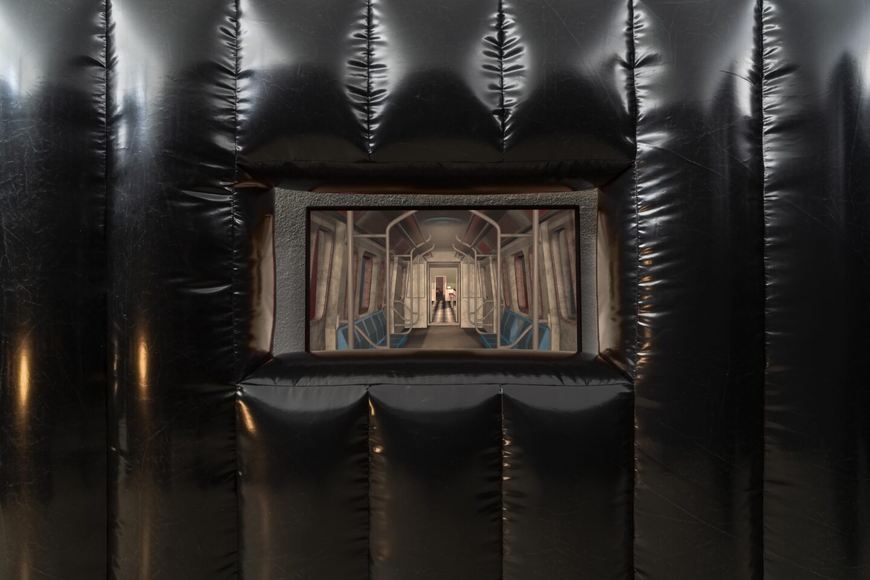 Exhibition View Jan Vorisek Soloshow «Collapse Poem; view on Exercise in Isolation, 2020 (video)» at Kunsthaus Glarus, Glarus, 2020 / Photo: Gunnar Meier / Courtesy: the artist and Galerie Bernhard, Zurich