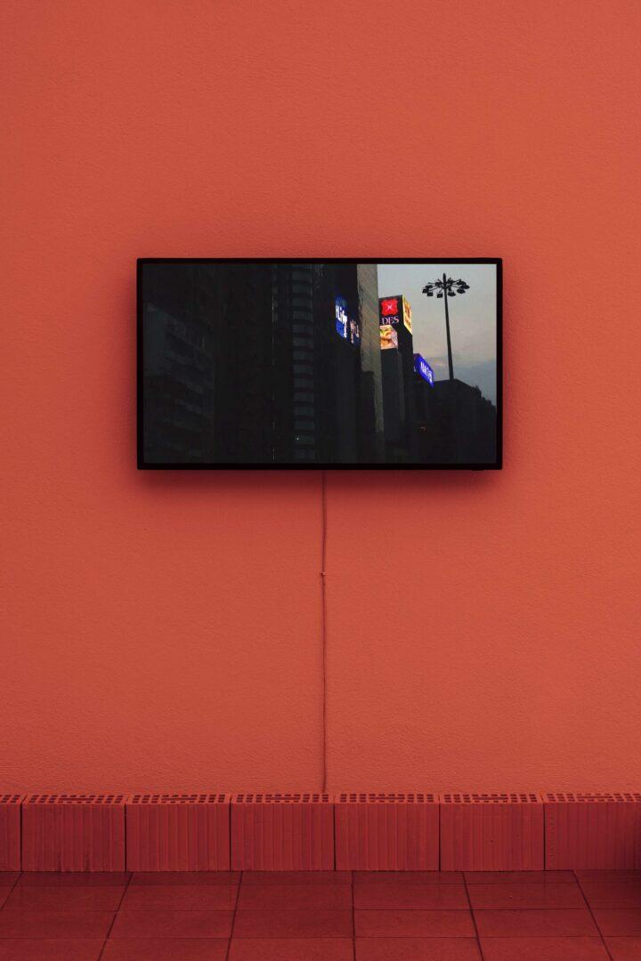 Exhibition View Jan Vorisek Soloshow «Collapse Poem; view on Palinopsia, 2020 (video)» at Kunsthaus Glarus, Glarus, 2020 / Photo: Gunnar Meier / Courtesy: the artist and Galerie Bernhard, Zurich
