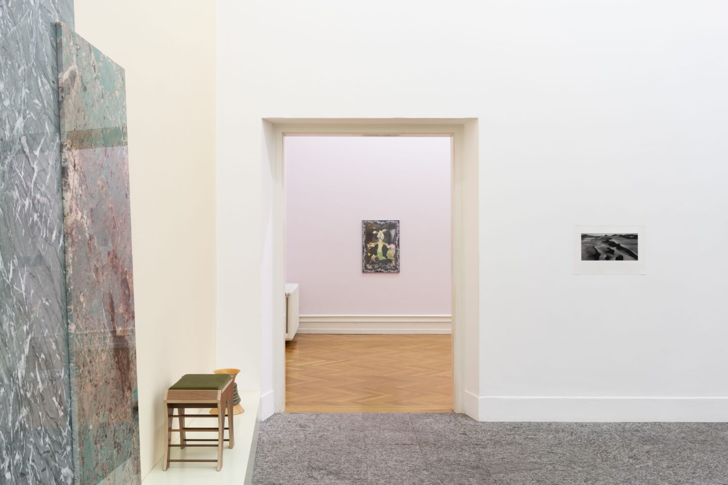 Exhibition View Marc Camille Chaimowicz Soloshow «Dear Valérie…» at Kunsthalle Bern, Bern, 2020 / Photo: Gunnar Meier / Courtesy: the artist and Kunsthalle Bern