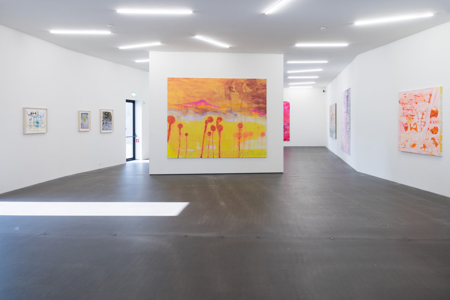 Exhibition View Rebekka Steiger Soloshow «Boxing the Compass» at Kunsthaus Grenchen, 2020 / Photo: Laura Hadorn / Courtesy: Rebekka Steiger and Galerie Urs Meile, Beijing-Luzern