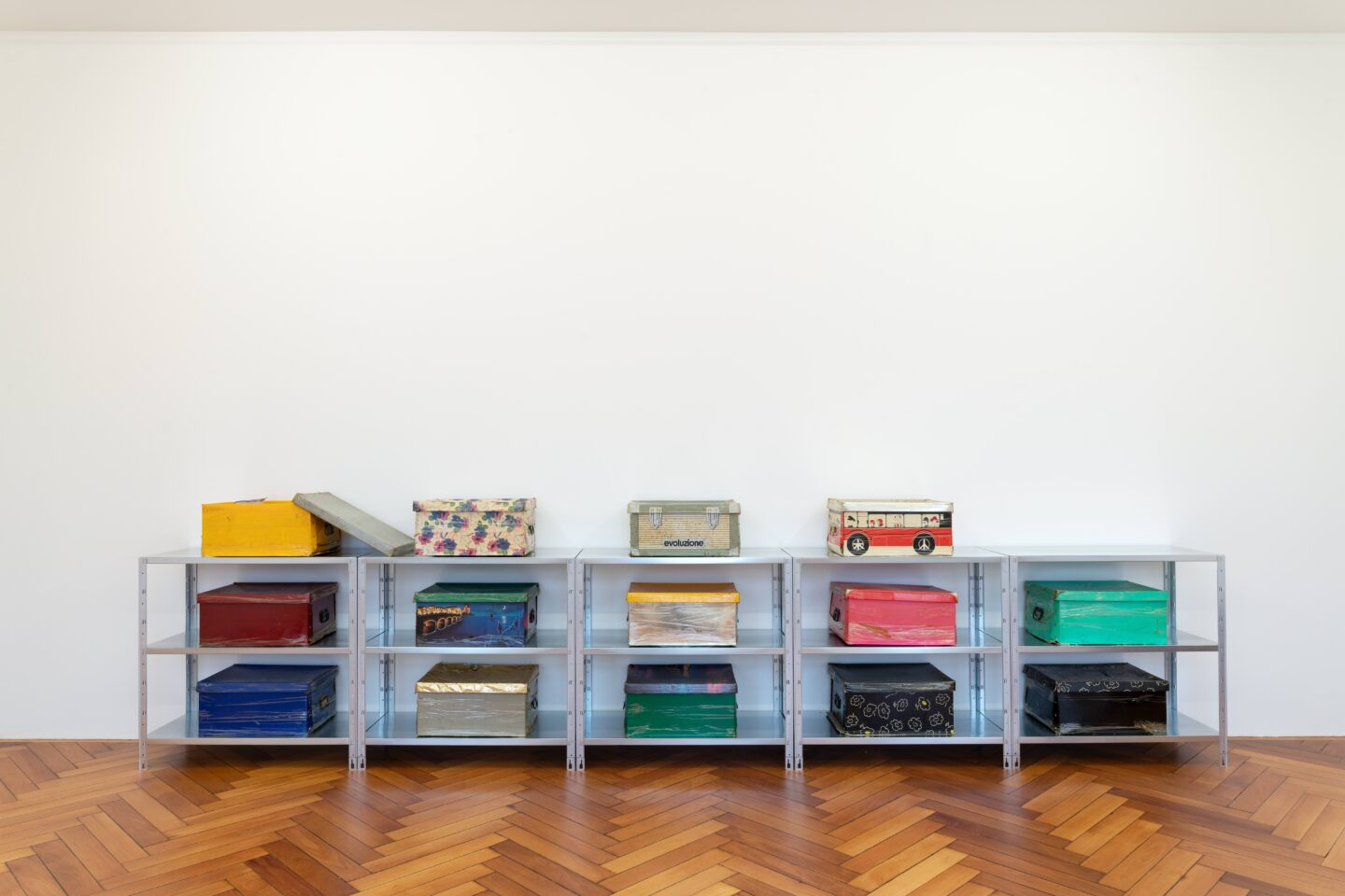 Exhibition View Groupshow «Kasten; view on Adelhyd Van Bender, untitled (1-14), 1999-2014» at Stadtgalerie, Bern, 2020 / Photo: CE / Courtesy: the artist and Stadtgalerie, Bern