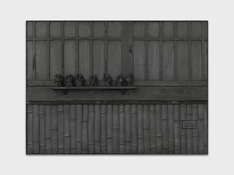 Exhibition View Rico Weber Soloshow «Silver Dust; view on Rico Weber, Die 7 Götter, 1995, acrylicresin, silicone, metal, 110x150cm» at Galerie Maria Bernheim, Zurich, 2020 / Photo: Annik Wetter / Courtesy: Galerie Maria Bernheim