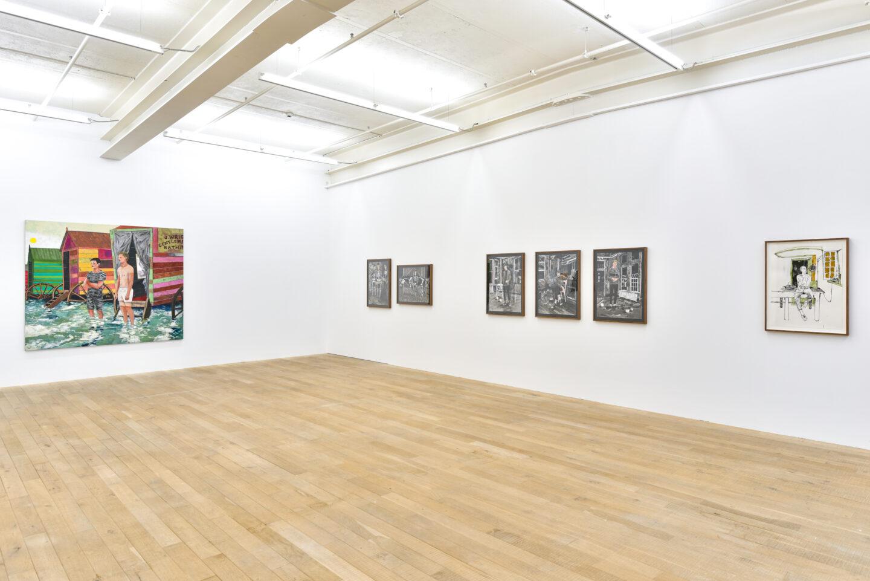 hb2Exhibition View Hernan Bas Soloshow «Interiors» at Galerie Peter Kilchmann, Zurich, 2020 / Courtesy: the artist and Galerie Peter Kilchmann0_PK_Raum2_5