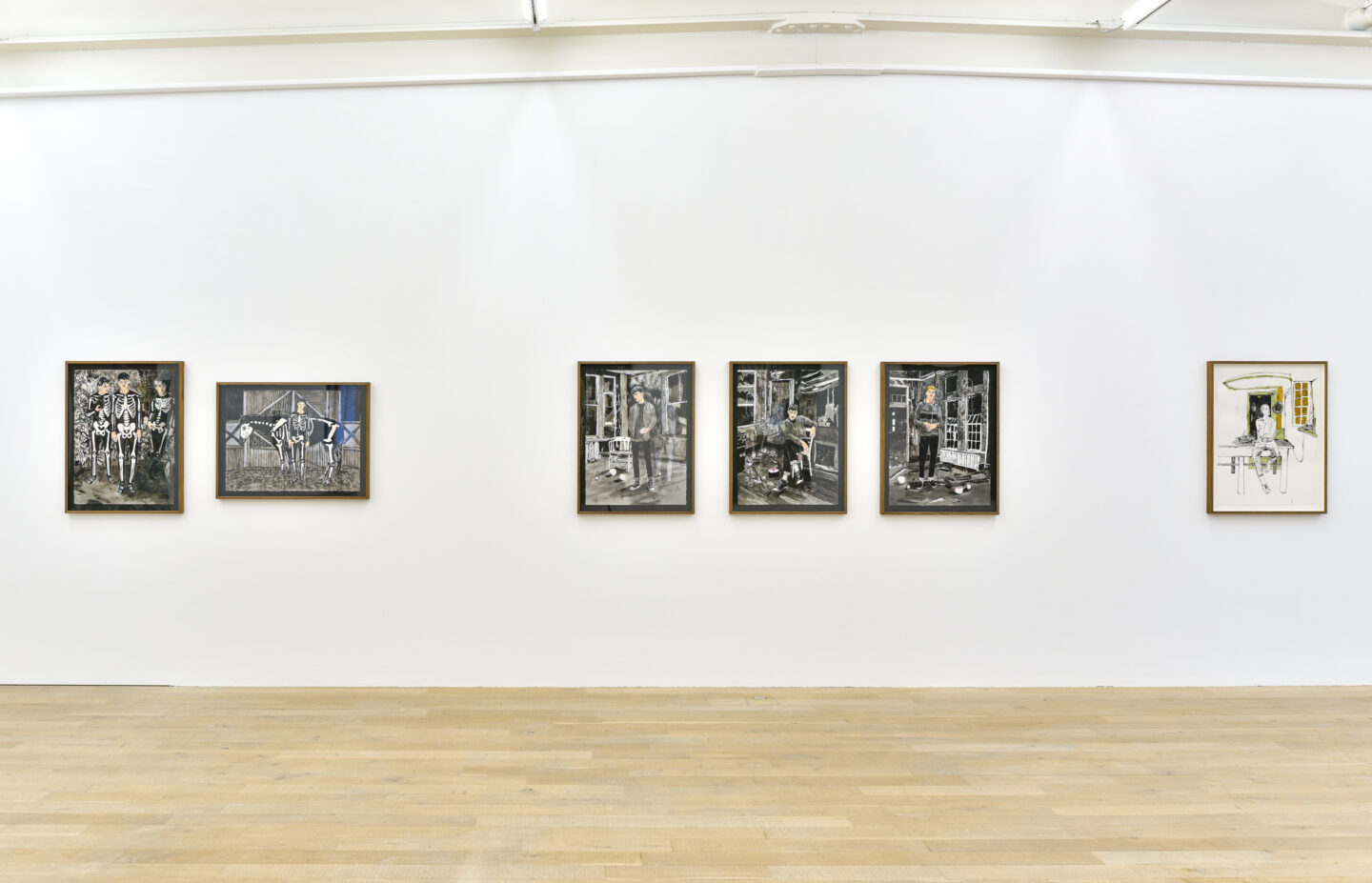 Exhibition View Hernan Bas Soloshow «Interiors» at Galerie Peter Kilchmann, Zurich, 2020 / Courtesy: the artist and Galerie Peter Kilchmann