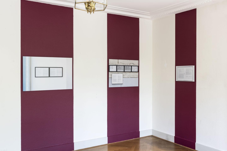 Exhibition View Bea Schlingelhoff Soloshow «soft mime win» at Cherish, Geneva, 2020 / Photo: James Bantone / Courtesy: the artist and Cherish