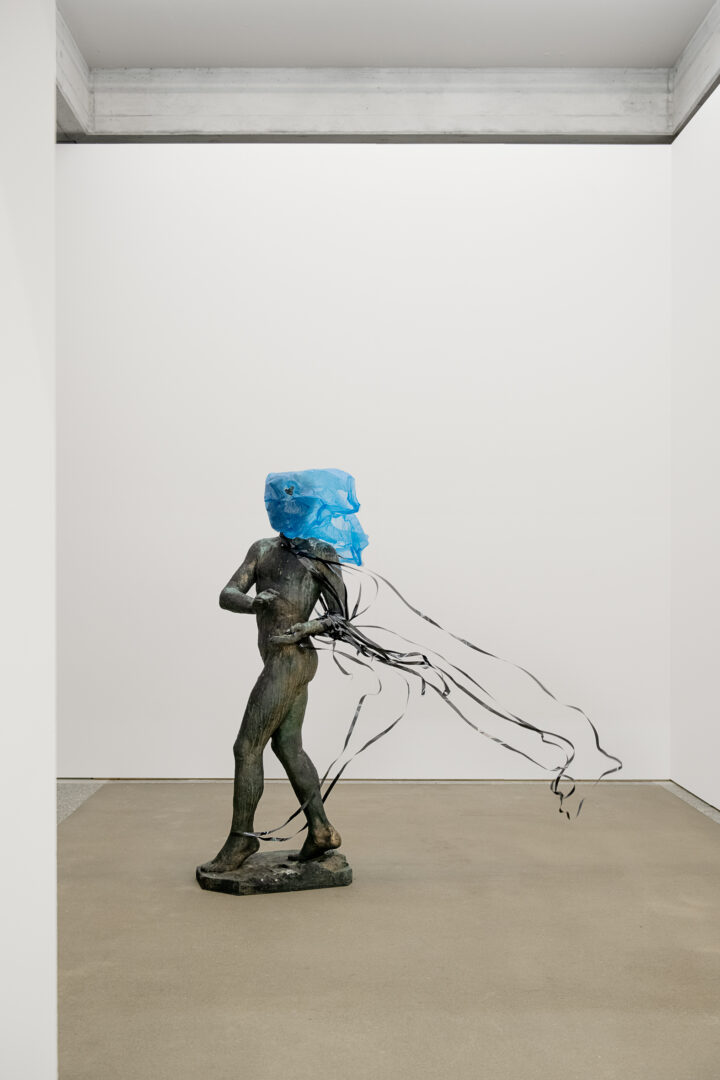 Exhibition View Groupshow «Metamorphosis Overdrive; view on Simon Dybbroe Møller, Video, 2020» at Kunstmuseum St. Gallen, St. Gallen, 2020 / Photo: Sebastian Stadler / Courtesy: the artist and Kunstmuseum St. Gallen