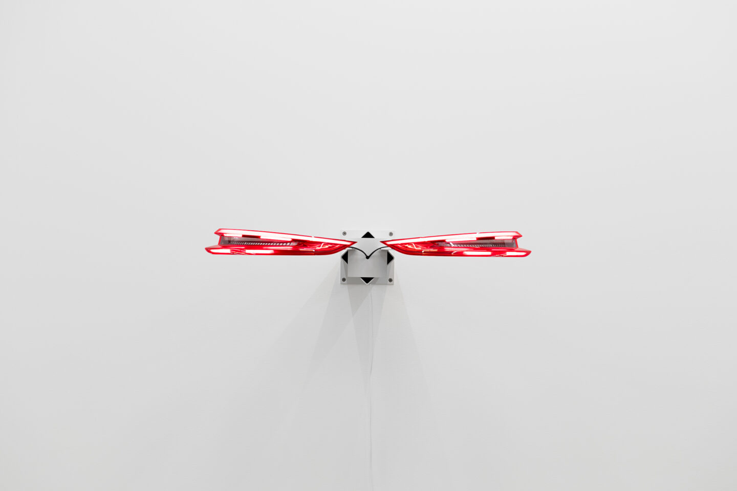 Exhibition View Groupshow «Metamorphosis Overdrive; view on Yngve Holen, Hater Taillight, 2016» at Kunstmuseum St. Gallen, St. Gallen, 2020 / Photo: Sebastian Stadler / Courtesy: the artist and Kunstmuseum St. Gallen