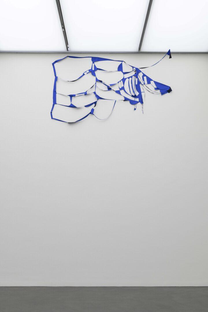 Stoff, 175 × 286 cm» at Kunstmuseum Luzern, Lucerne, 2020 / Photo: Marc Latzel / Courtesy: the artist and Galerie Anne-Sarah Bénichou, Paris