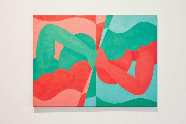 Exhibition View Groupshow «Motor; view on Aldo Solari, Wende 1, oil on canvas, 60x81cm, 2011» at Kunstraum Riehen, Riehen, Basel, 2020 / Photo: Moritz Schermbach / Courtesy: the artist