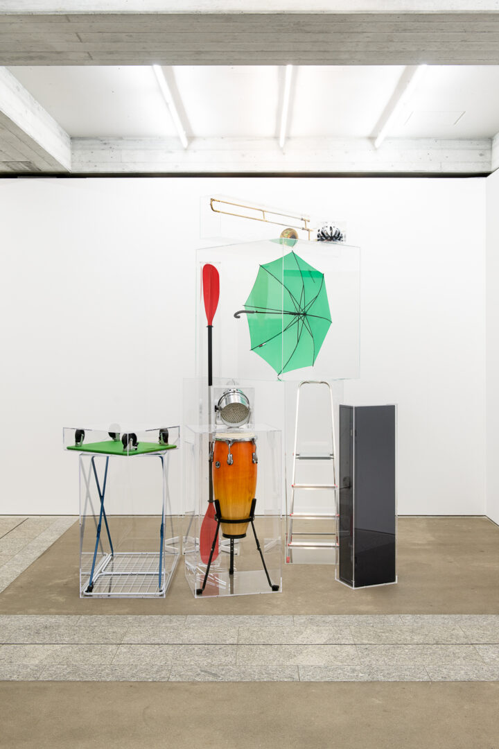 Exhibition View Groupshow «Metamorphosis Overdrive; view on Simon Dybbroe Møller, Things and the Thoughts That Think Them, 2011» at Kunstmuseum St. Gallen, St. Gallen, 2020 / Photo: Sebastian Stadler