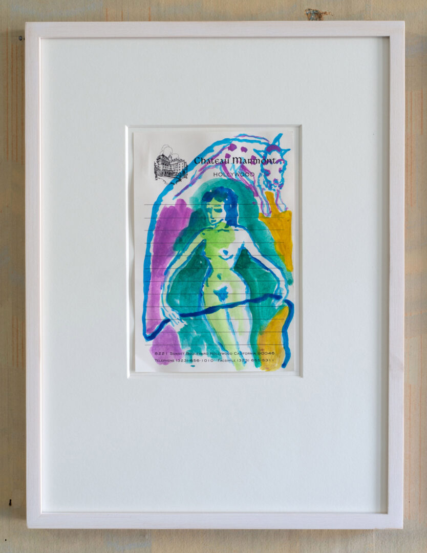 Exhibition View Groupshow «Watercolours, Chapter I; view on Emily Sundblad, Untitled, 2020, Gouache on paper, 15 x 10 cm» at Weiss Falk, Basel, 2020 / Photo: Flavio Karrer / Courtesy: the artist and Weiss Falk