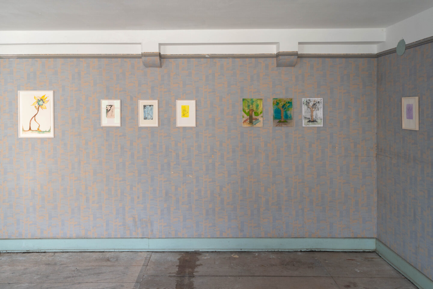 Exhibition View Groupshow «Watercolours, Chapter I» at Weiss Falk, Basel, 2020 / Photo: Flavio Karrer / Courtesy: the artists and Weiss Falk