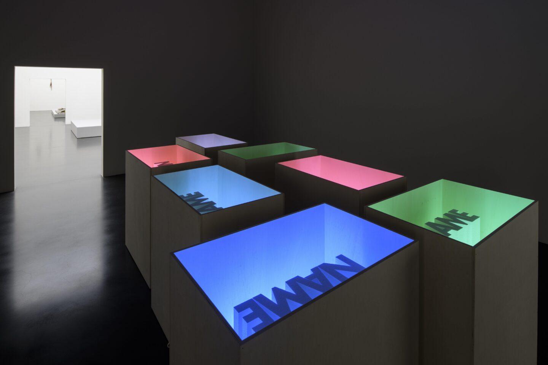 Exhibition View Marion Baruch Soloshow «Retrospektive – innenausseninnen» at Kunstmuseum Luzern, Lucerne, 2020 / Photo: Marc Latzel / Courtesy: the artist and Kunstmuseum Luzern