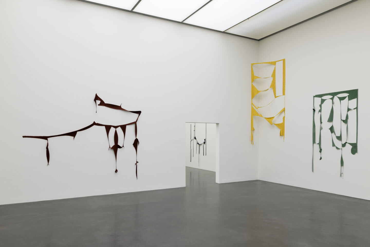 Exhibition View Marion Baruch Soloshow «Retrospektive – innenausseninnen» at Kunstmuseum Luzern, Lucerne, 2020 / Photo: Marc Latzel / Courtesy: the artist and Kunstmuseum Luzern