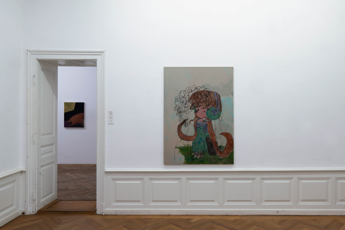 Exhibition View Groupshow «Soft Shell; view on Ray Hegelbach» at Kunsthaus Langenthal, Langenthal, 2020 / Photo: CE / Courtesy: the artists and Kunsthaus Langenthal