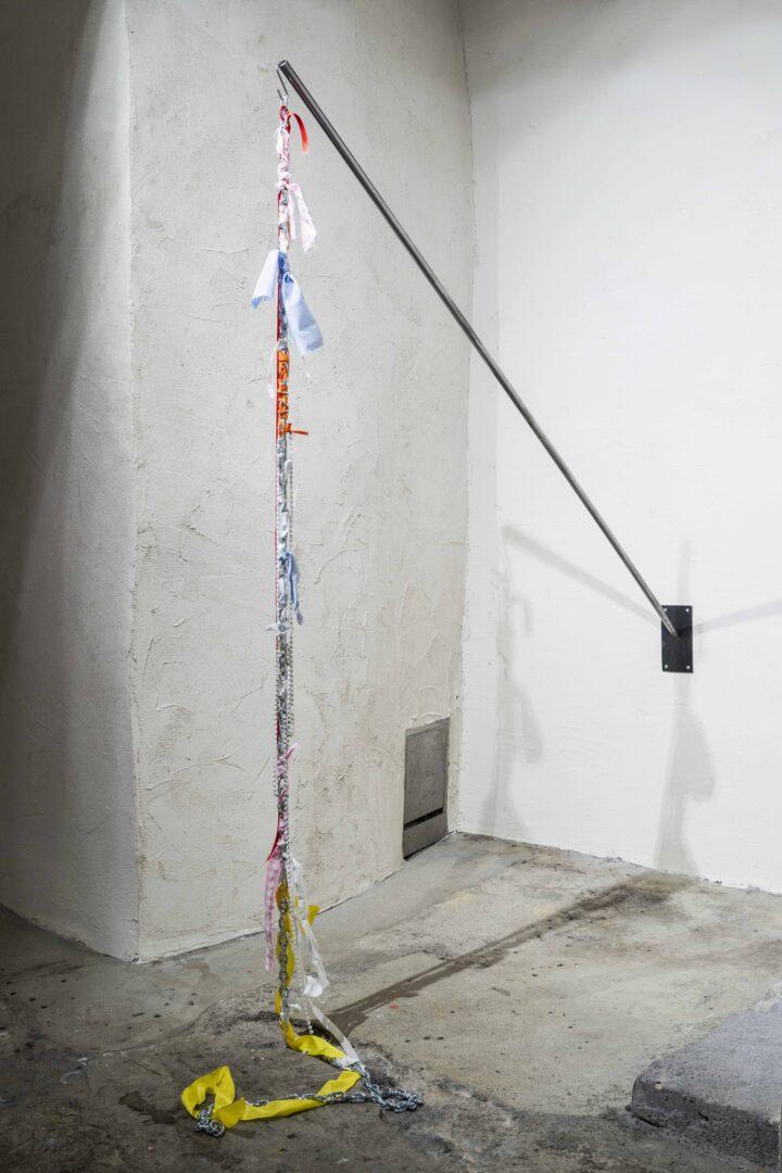 Exhibition View Emmy Hennings / Sitara Abuzar Ghaznawi Joint Exhibition (view on Sitara Abuzar Ghaznawi, Sculpture 1, 2020) at Cabaret Voltaire, Zurich, 2020 / Photo: Gunnar Meier / Courtesy: the artist and Cabaret Voltaire