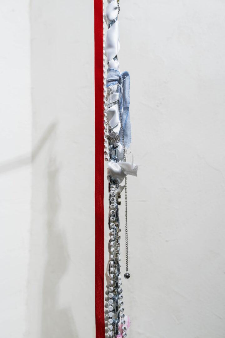 Exhibition View Emmy Hennings / Sitara Abuzar Ghaznawi Joint Exhibition (view on Sitara Abuzar Ghaznawi, Sculpture 1, 2020, detail) at Cabaret Voltaire, Zurich, 2020 / Photo: Gunnar Meier / Courtesy: the artist and Cabaret Voltaire