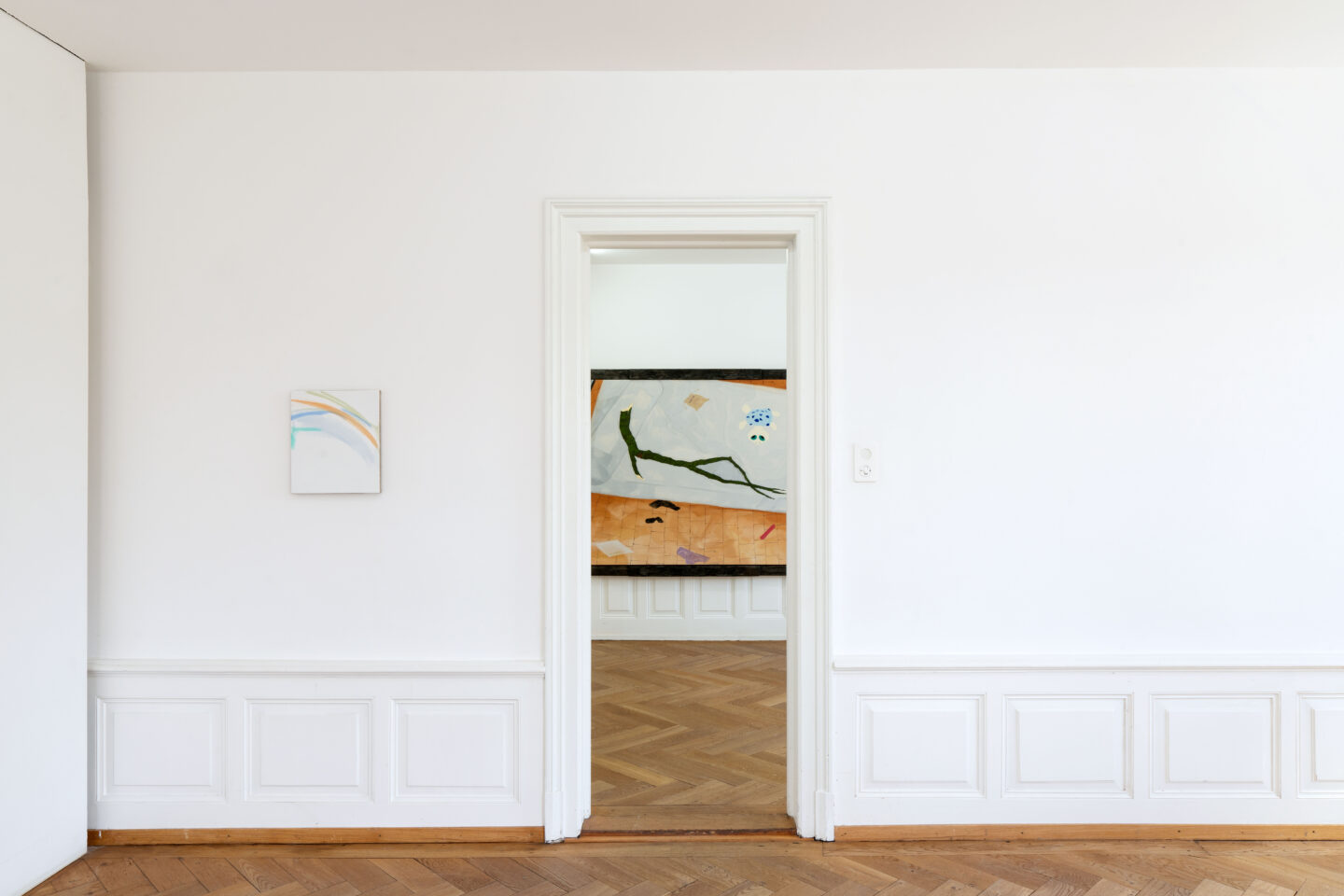 Exhibition View Groupshow «Soft Shell; view on Nora Steiner» at Kunsthaus Langenthal, Langenthal, 2020 / Photo: CE / Courtesy: the artists and Kunsthaus Langenthal