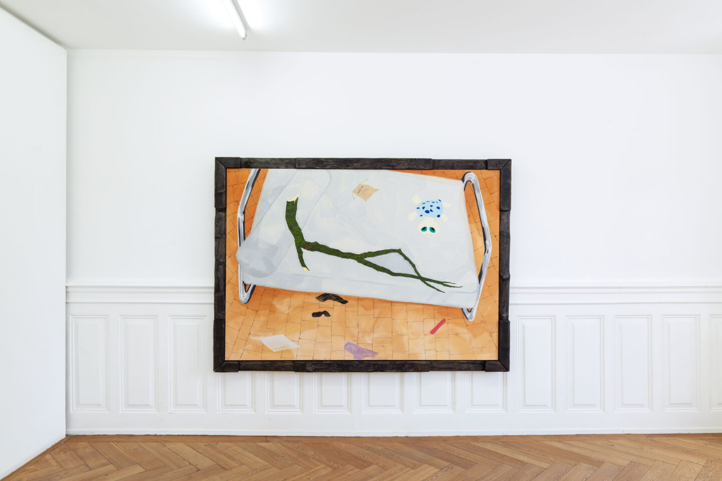 Exhibition View Groupshow «Soft Shell; view on Ivan Mitrovic» at Kunsthaus Langenthal, Langenthal, 2020 / Photo: CE / Courtesy: the artists and Kunsthaus Langenthal