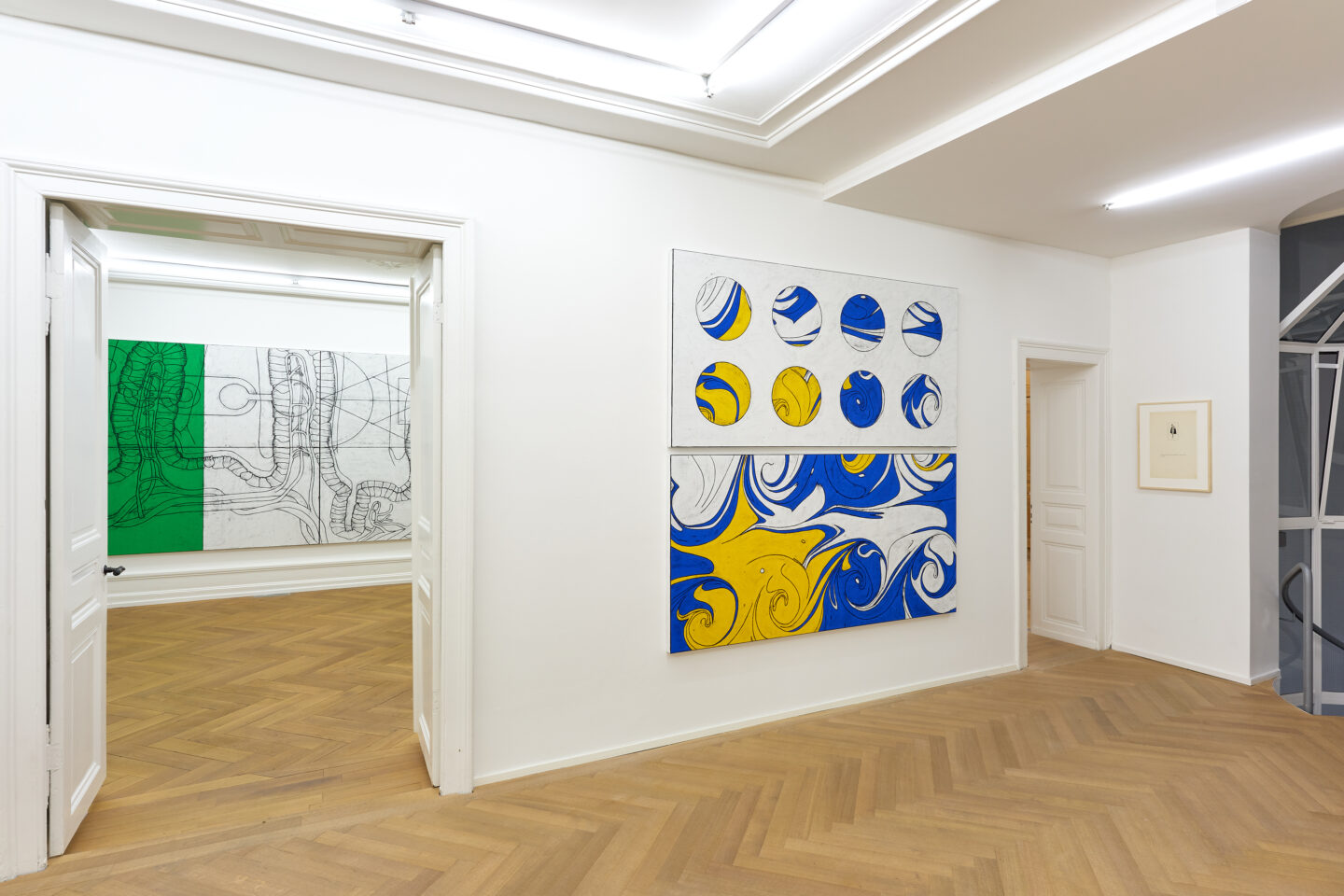 Exhibition View Matt Mullican Soloshow «Representing the Five Worlds - 50 Years of Work» at Mai 36 Galerie, Zurich, 2020 / Courtesy: the artist and Mai 36 Galerie
