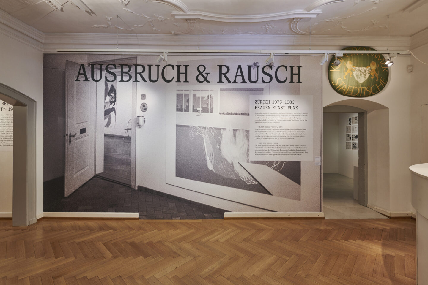 Exhibition View Groupshow «Ausbruch & Rausch, Zurich 1975-1980, Women Art Punk» at Strauhof, Zurich, 2020 / Photo: Zeljko Gataric